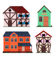 family european house set vector image
