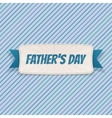 Fathers Day paper Banner with greeting Ribbon vector image vector image