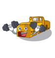 fitness miniature locomotive mine in cartoon shape vector image vector image