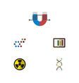 flat icon knowledge set of diagram genome vector image vector image