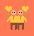 flat icon on stylish background gay lovers vector image vector image