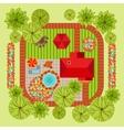 Flat style landscape design concept vector image vector image
