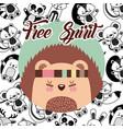 Free spirit flat vector image