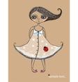 Girl with Ladybug vector image