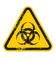 grunge danger biohazard sign isolated on white vector image vector image