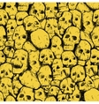 grungy skull pattern vector image vector image