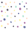 Hand Drawn Circles Seamless Pattern vector image