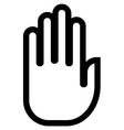 Hand outline icon vector image vector image