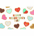 happy valentines day background with heart shaped vector image vector image