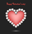 happy valentines day heart from baseball balls vector image
