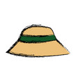 hat man protection sun vacations image vector image vector image
