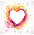 heart-splash-frame vector image