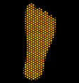hexagon halftone human footprint icon vector image