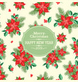 holiday invitation card with poinsettia floral vector image vector image
