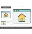 Homepage line icon vector image vector image