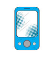 isolated retro smartphone icon vector image