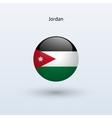 Jordan round flag vector image