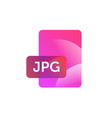jpg format icon gradient flat style bright vector image vector image
