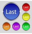 Last sign icon Navigation symbol Set of colored vector image vector image