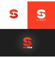 letter S logo design icon set background vector image vector image