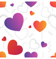 love actually colorful trendy seamless vector image