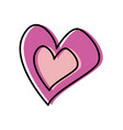 love heart romantic passion symbol vector image vector image