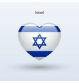 Love Israel symbol Heart flag icon vector image