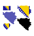 Map Bosnia vector image vector image
