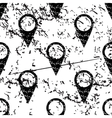 Map marker pattern grunge monochrome vector image vector image