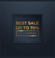 mega flash sales banners with black gold for sales vector image vector image