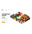 modern bauhaus 3d design geometric posters vector image