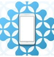 modern smartphone banner background vector image vector image