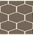 modern stylish striped hexagon ornament vector image vector image