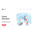 online education landing page school tutor vector image