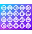 Online shop shape carved flat icons set