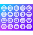 online shop shape carved flat icons set vector image vector image