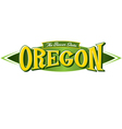 Oregon The Beaver State vector image