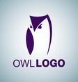 OWL LOGO 7 vector image vector image