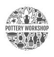 pottery workshop ceramics classes banner vector image