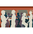 Pub crowd vector image vector image
