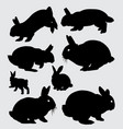 rabbit animal silhouette vector image