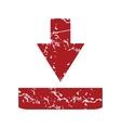 Red grunge download logo vector image