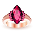 Ring with gemstone vector image vector image