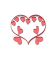 romantic frame Valentine day doodle vector image vector image