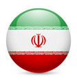 Round glossy icon of iran vector image vector image