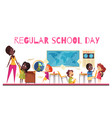 school class cartoon vector image