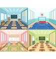 School classrooms and sportroom vector image