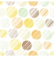 Seamless pattern with circle elements vector image
