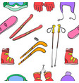 sport equipment pattern style vector image vector image
