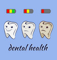 three of state health of teeth vector image